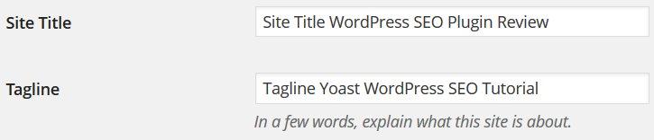 WordPress Site Title SEO