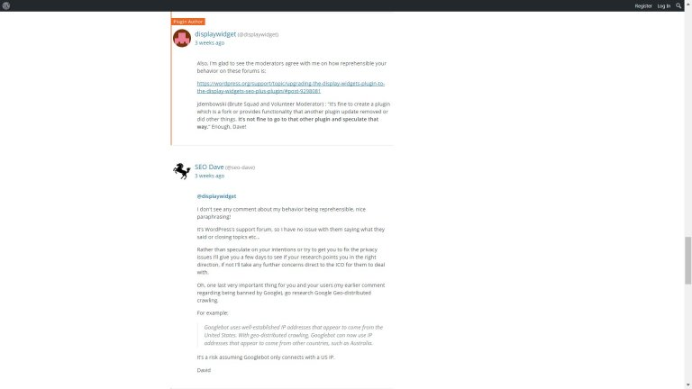 WordPress Support Forum Moderation Reason