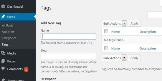 WordPress Tags SEO