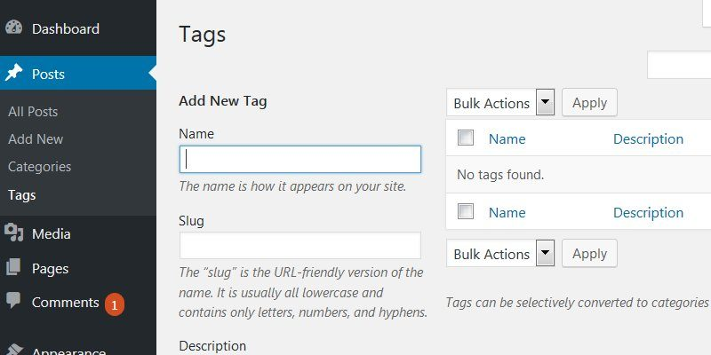 WordPress Tags SEO