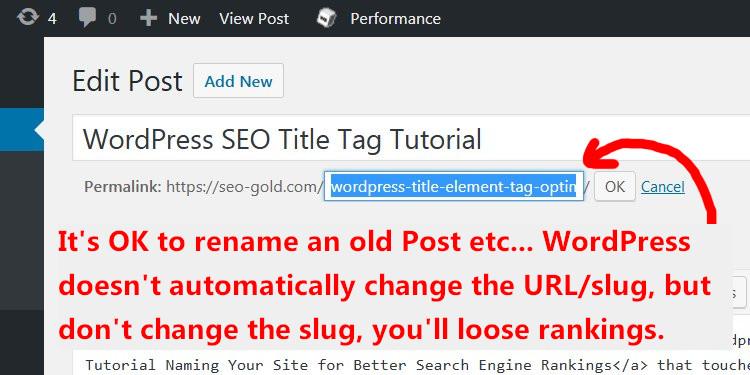 WordPress Title Tag SEO