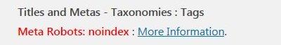 Yoast Noindex Tags SEO Warnings